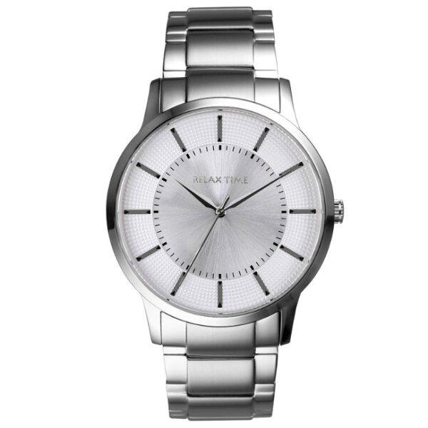 RELAXTIME入門紳士錶款(RT-76-1)銀x白42mm