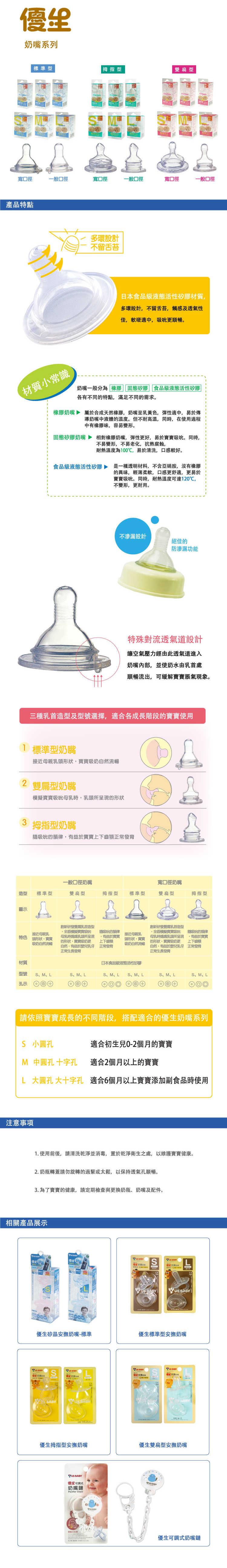 『121婦嬰用品館』優生 第三代奶嘴一般口徑標準奶嘴 M (2+1入) 1