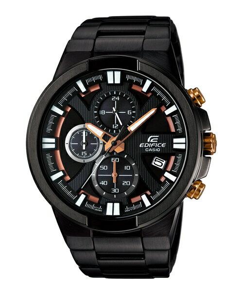 CASIO EDIFICE EFR-544BK-1A9極黑競速三環時尚腕錶/黑面48mm