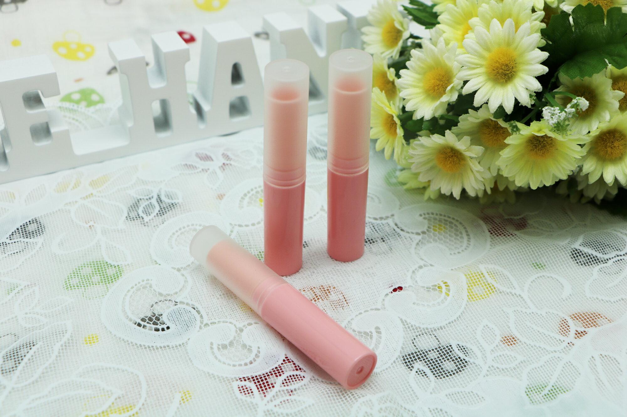 DIY 馬卡龍系淡粉紅色護唇膏管(細長 3g)