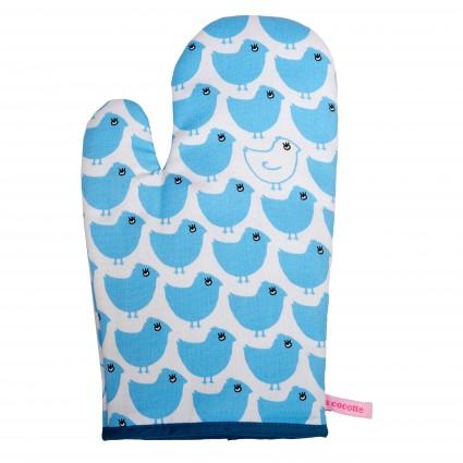 《法國 La Cocotte Paris》 Minipoussin Bleu 藍色小雞隔熱手套 - 限時優惠好康折扣
