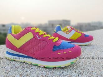《超值990》Shoestw【53W1YK61PM】PONY YORK復古慢跑鞋 內增高 桃黃 歐陽妮妮限定 迷彩