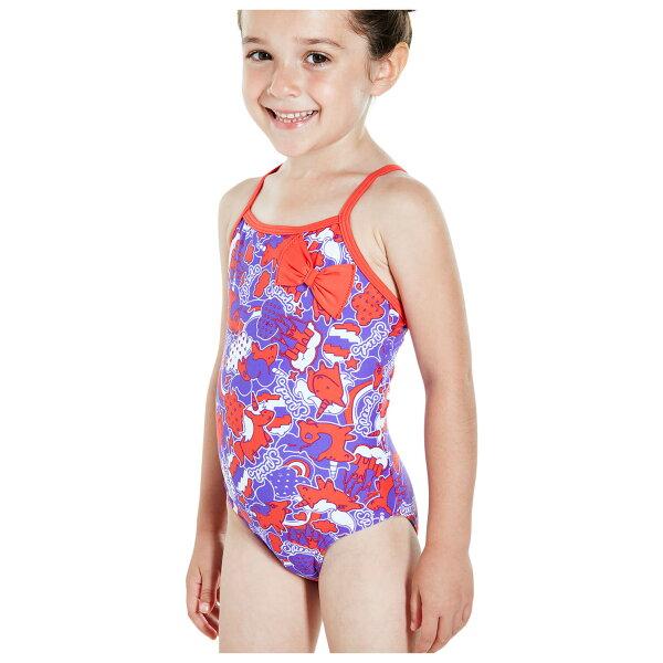 SPEEDO2歲~5歲幼童連身泳裝獨角獸蝴蝶結SD811446C196紫紅(身高:92~110CM)[陽光樂活]