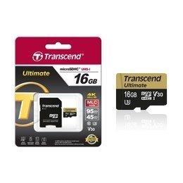 【新風尚潮流】 創見記憶卡 16GB micro SDHC UHS-I U3 MLC顆粒 TS16GUSDU3M
