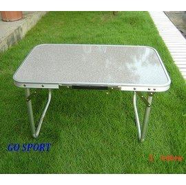 【【蘋果戶外】】Go Sport 92273 小桌子鋁框兩段摺疊桌休閒桌戶外桌附收納袋