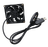 INVNI 三段定時控速風扇線材組 5V DC Fan  80x80x25mm 散熱裝置 電腦零組件 1