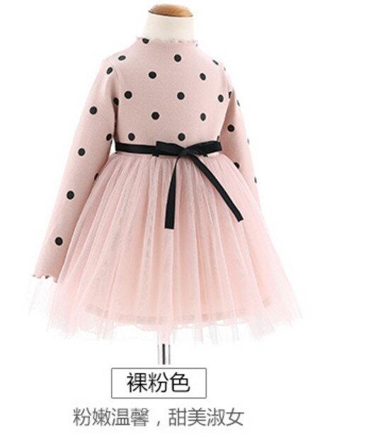 公主裙 妹妹裙子秋款 韓系長袖 秋天女童連衣裙