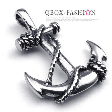 《QBOX》FASHION飾品【W10022503】精緻個性船錨符號鑄造316L鈦鋼墬子項鍊
