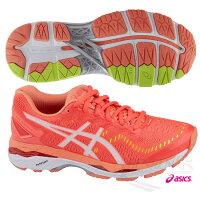女性慢跑鞋到ASICS亞瑟士 女慢跑鞋 GEL-KAYANO 23 (D) (橘紅) 高支撐就在胖媛的店推薦女性慢跑鞋
