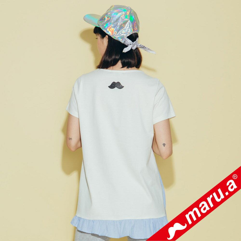 【maru.a】不對稱條紋拼接上衣 8321229 5