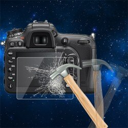 0.5mm相機鋼化玻璃LCD屏幕面板膠片保護膜HD Guard防水蓋適用於Nikon D700 D7000