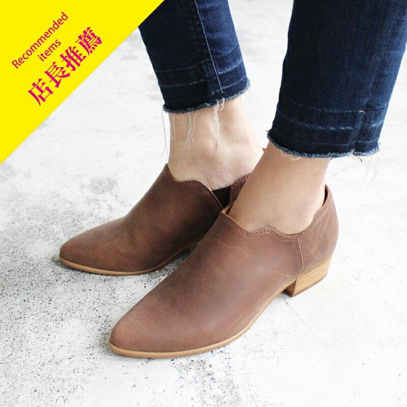 【B2-16130L】鞋口不規則個性踝靴_Shoes Party 0