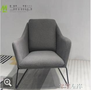 沙髮椅單人休閒椅接待小戶型北歐設計師椅客廳陽台椅簡約布藝定製【全館免運 限時鉅惠】
