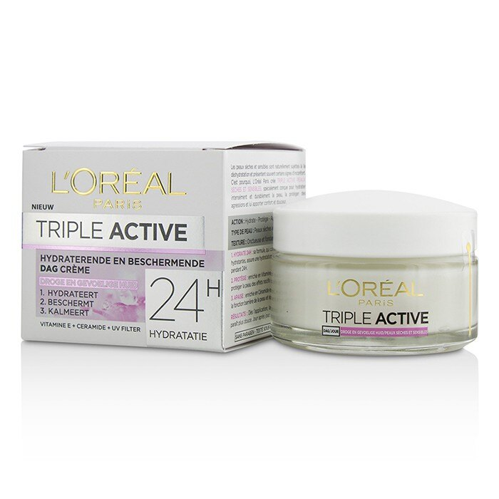 L''''Oreal 萊雅 三重活性多重保護24H保濕日霜Triple Active Multi-Protective Day Cream 24H Hydration - 適合乾性/敏感性肌膚 50ml/1.7oz