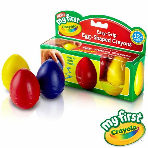 《 美國 Crayola 繪兒樂 》幼兒可水洗蛋形蠟筆3色