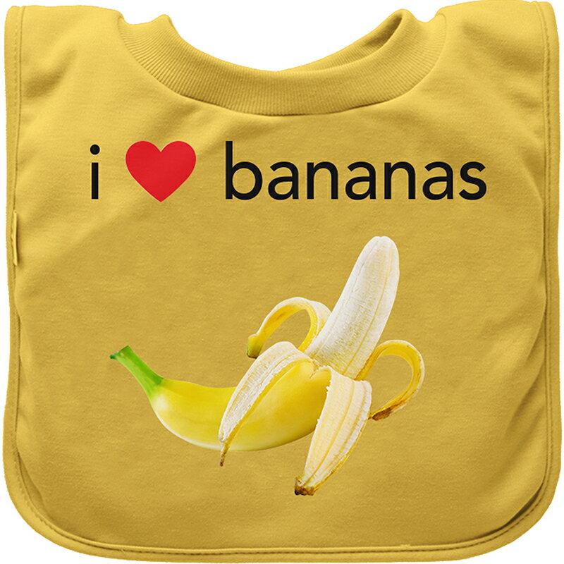 【愛寶貝 好物】美國green sprouts 套頭式三層吸水 防水【口水巾圍兜】單入組_黃香蕉_GS100060-5