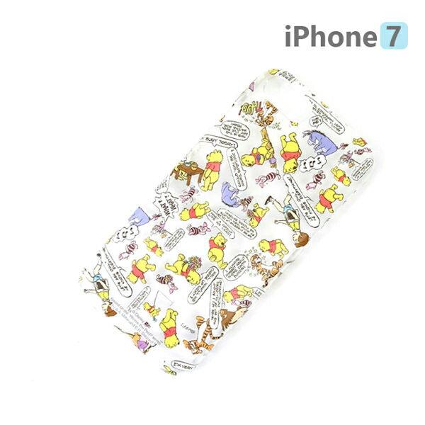 【日本 PGA-iJacket】正版 迪士尼 iPhone7 4.7吋 PC透明塗押系列 硬殼 手機殼 - 維尼