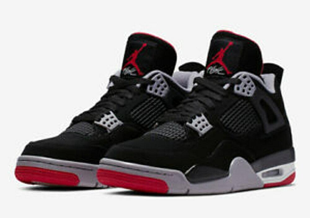 -[TellCathy ]NIKE Air Jordan 4  RETRO 黑紅 四代 女 408452-060