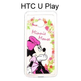 迪士尼透明軟殼[花語]米妮HTCUPlay(5.2吋)【Disney正版授權】