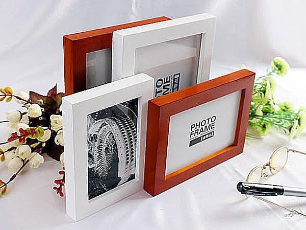 BO雜貨【SV2953】6吋麗巴直板實木相框 支架相框 擺臺式 原木胡桃 4x6木質相框壁貼