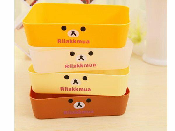 BO雜貨【SV6185】拉拉熊懶懶熊抽屜收納盒 文具 保養品化妝品 餐具收納 桌面 廚房收納