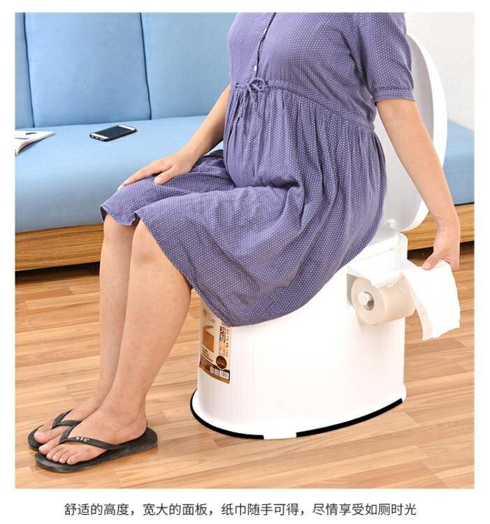 夯貨折扣! 老人坐便器孕婦行動馬桶老年人坐便椅成人便攜家用塑膠座便器防臭MBS