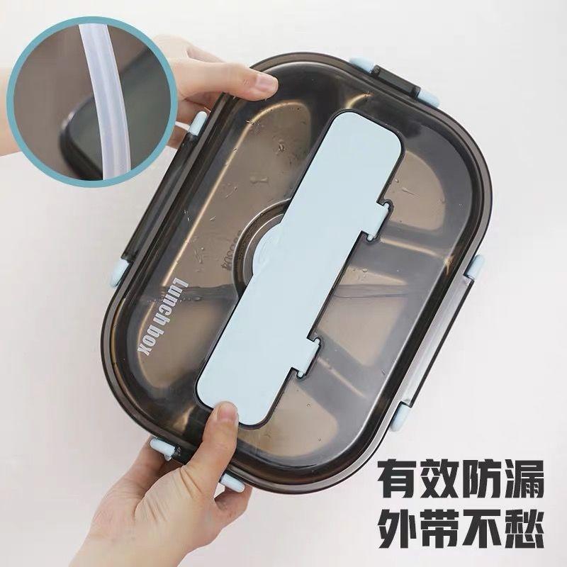 銹鋼防漏保溫飯盒便當盒微波爐分格學生女兒童餐盒分隔