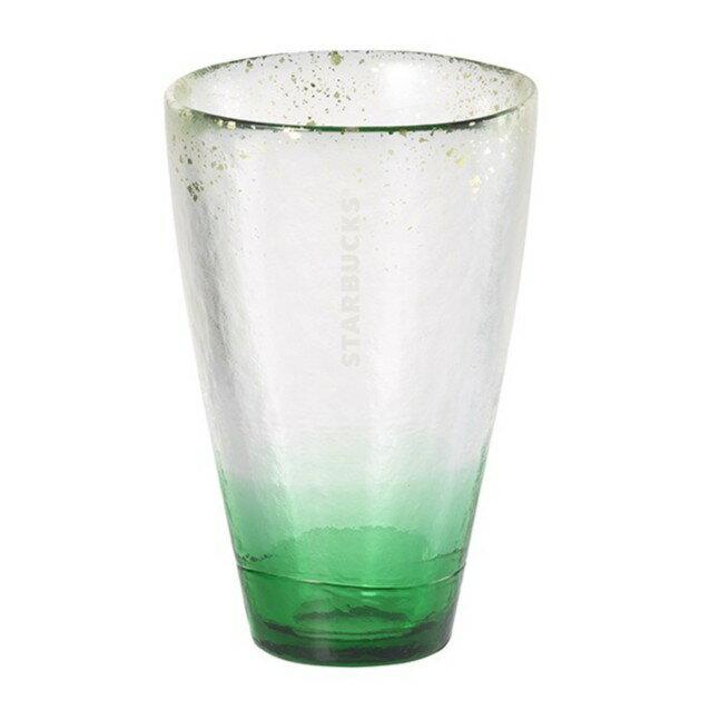 星巴克正品購買 山青閃耀金箔玻璃杯300ml  (98009)