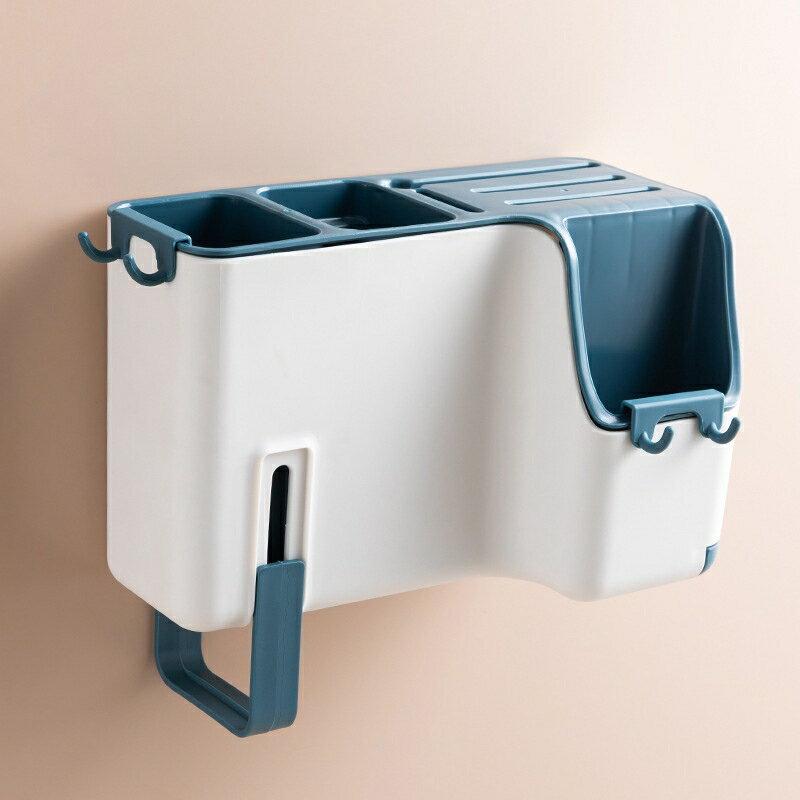 多功能壁掛式筷子籠創意瀝水筷子筒家用餐具刀具勺子收納盒刀架 7