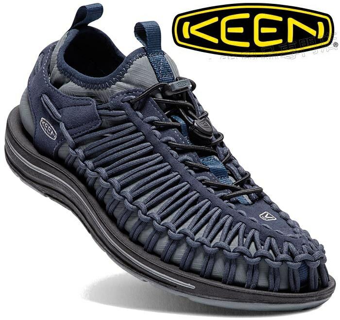 KEEN 繩編休閒鞋/帆船鞋/編織鞋 UNEEK HT 男 1018026 深藍 台北山水