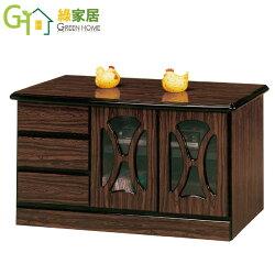 【綠家居】坎斯 雅緻4尺三抽電視櫃/收納櫃(二色可選)