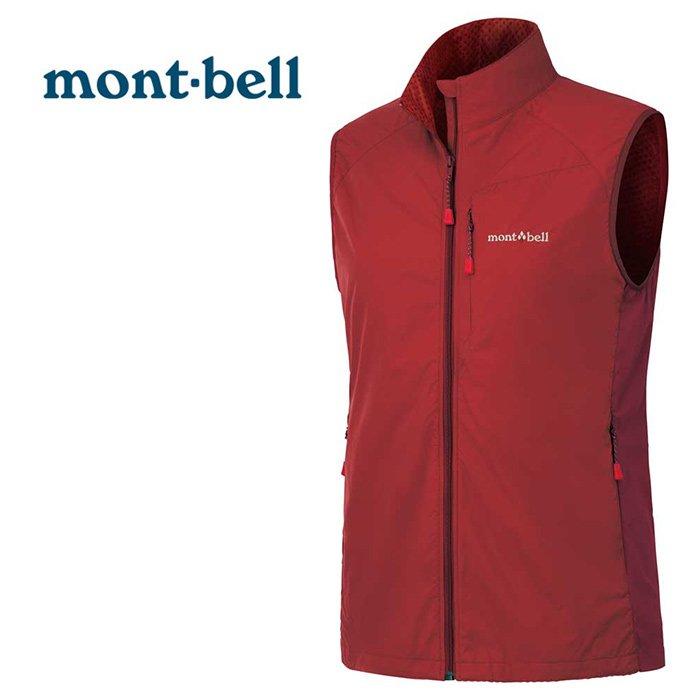 【mont-bell 日本】LIGHT SHELL 軟殼背心外套 運動外套 防潑水外套 防風外套 女款 榴紅色 (1106560)