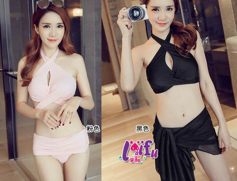 來福,C603泳衣美胸超級性感多繫帶三件式泳衣游泳衣泳裝比基尼,售價880元
