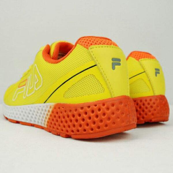 《限時特價799元》Shoestw【5J302Q666】FILA 慢跑鞋 網布 透氣 黃橘白 女生 2