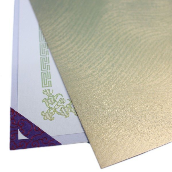 單面證書夾 亮金色(加厚) / 一包2個入(定75) 簽名報到單底板 合約書夾 契約書夾 證書夾 簽約書夾 獎狀夾 MIT製-國204C-5D-Gx2 3