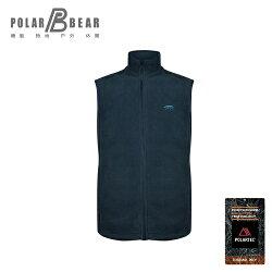 【POLAR BEAR】男POLARTEC C200刷毛結合保暖背心