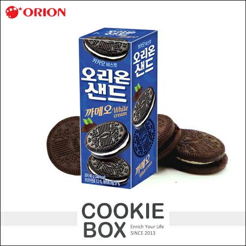 韓國 ORION 巧克力 奶油 夾心 餅乾 66g 酥脆 美味 零食 零嘴 朱古力 牛奶 *餅乾盒子*