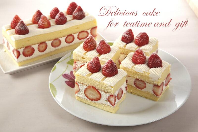 【草莓蛋糕☆特價】草莓香草蛋糕(一條) 380元★★滿千再折百 訂單輸入優惠代碼CNY100★ 2