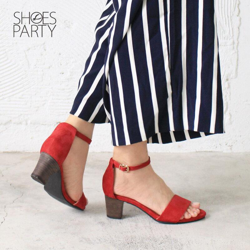 【S2-17613L】春夏必備簡約一字設計中跟涼鞋_Shoes Party 2