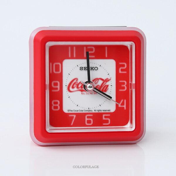 鬧鐘SEIKO可口可樂方形鬧鐘柒彩年代【NV58】原廠公司貨