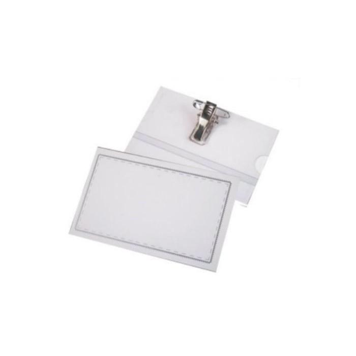 亮美 LM-7006 名牌套附貼夾 10入裝 名片夾 透明證件套 証件套 識別證套 名牌夾 證件夾