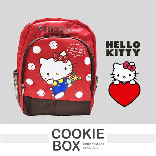 正版 HELLO KITTY 雙層 後背包 三麗鷗 凱蒂貓 兒童 書包 收納 日本 吉祥物 授權 *餅乾盒子*