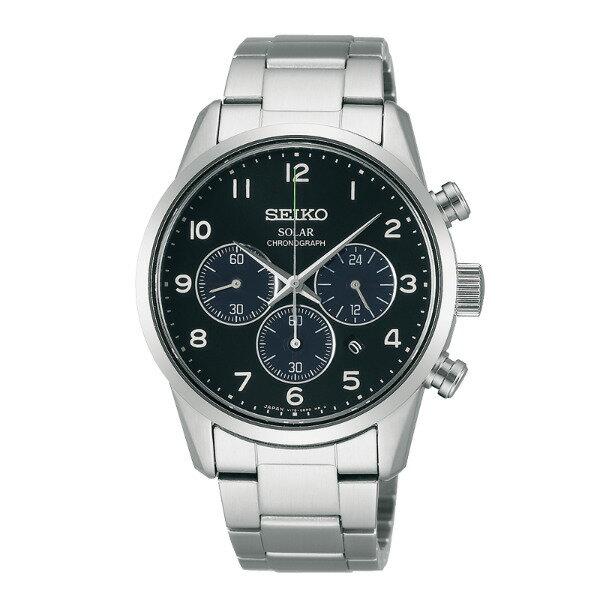 Seiko Spirit V175-0BJ0A(SBPY137J)時尚動感太陽能計時腕錶/黑面39mm
