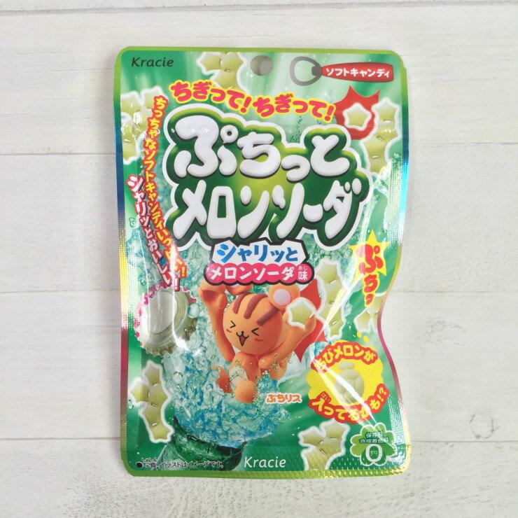 噗啾系列 日本進口 KRACIE 造型軟糖 哈密瓜汽水口味 (25g)
