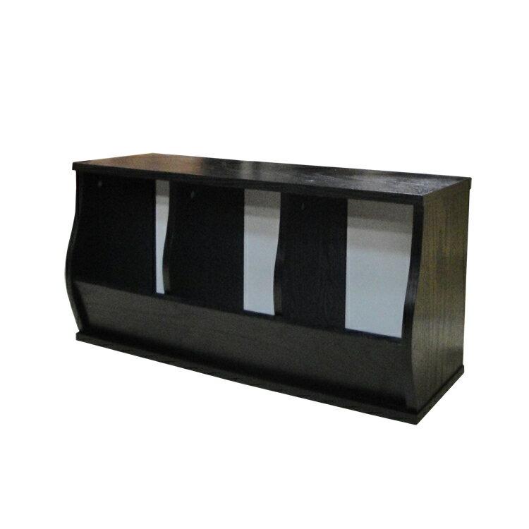 免運費~(3格)DIY質感斜取式造型收納櫃 / 可堆疊收納櫃 / 格櫃 / 斜櫃 / 置物櫃 / 置物盒~ 寬80.5*深30.5*高41公分  #樂創木工# 3