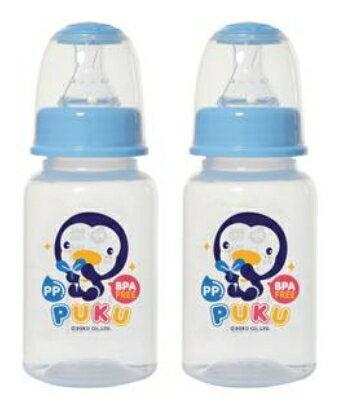 PUKU 藍色企鵝 PP 口徑奶瓶 120C.C 2支入