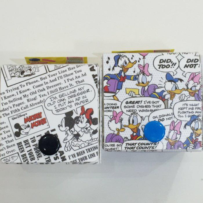 迪士尼 米奇米妮 唐老鴨 黛西 骰子 置物盒 收納盒 飾品盒 對話印花 文具 正版日本進口 * JustGirl *