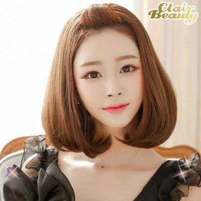半罩式-蓬鬆感微捲梨花頭【MW013】韓系唯美露額半罩式假髮☆雙兒網☆