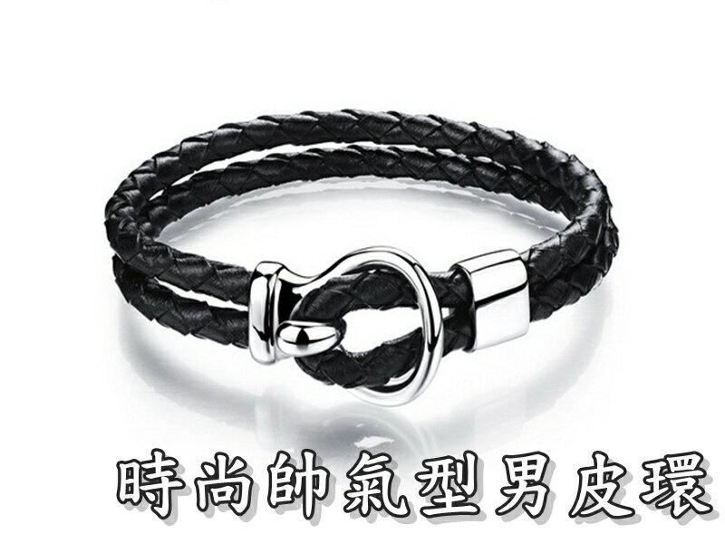 《316小舖》【Q280】(優質精鋼皮環-時尚帥氣型男皮環-單件價 /白鋼手環/白鋼皮環/時尚手環/時尚皮環/聖誕手環)