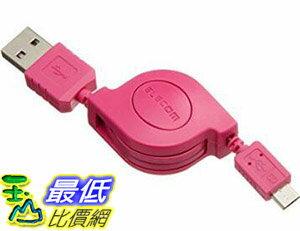 [107東京直購] ELECOM MPA-AMBIRLC08 micro-USB 收捲傳輸線